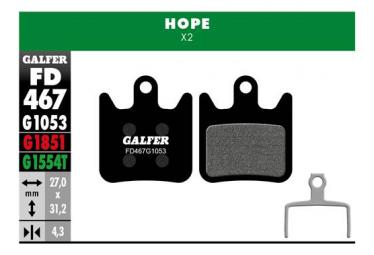 Coppia di pastiglie semimetalliche Galfer Hope X2 Standard