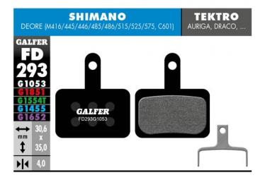 ¨ Coppia di pastiglie Galfer Semi-metalliche Tektro / TRP / Shimano Deore 416/445/446/485/486/515/525/575 C601 Standard