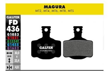 Paar Galfer Semi-Metallic Magura MT2 / MT4 / MT6 / MT8 / MTS Standard-Bremsbeläge