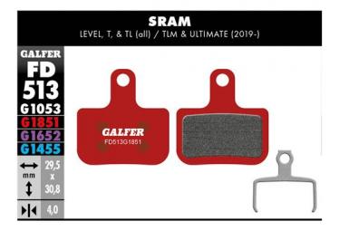 Paar Galfer Semi-Metallic Sram Level Level T Level TL Bremsbeläge. Fortgeschrittene