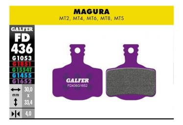 Coppia di pastiglie E-Bike Galfer Semi-metalliche Magura MT2 / MT4 / MT6 / MT8 / MTS