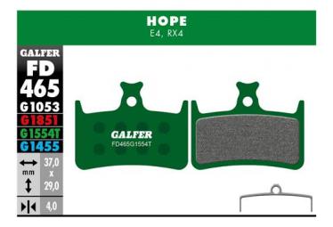 Coppia di pastiglie semimetalliche Galfer Hope E4 Pro