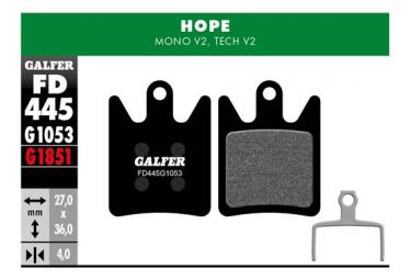 HOPE Mono V2 / Tech V2 Standard halbmetallische Bremsbeläge (Paar)