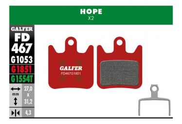 Paar Galfer Semi-Metallic Pads Hope X2 Advanced