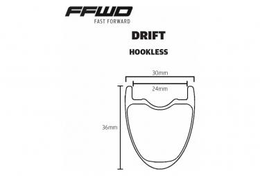 Paire de Roues Fast Forward FCC Drift DT240 EXP Disc   12x100 - 12x142mm   Centerlock