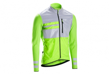 Triban RC500 Long Sleeve Winter Jersey Fluo Yellow