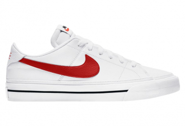 Chaussures Nike Court Vision Low Blanc / Rouge