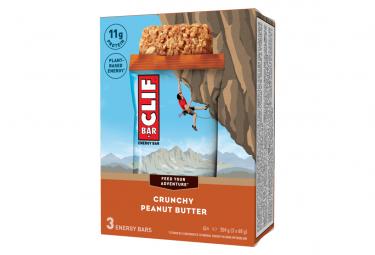 Barre Energetique Clif Bar Beurre de Cacahuete 68g x3