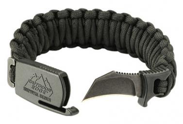 Image of Bracelet tactique outdoor edge para claw noir medium