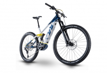 Husqvarna mountain cross 5 mtb electrica de doble suspension shimano deore 11v 630 wh 27 5     29   blanco   azul 2021 l   175 185 cm