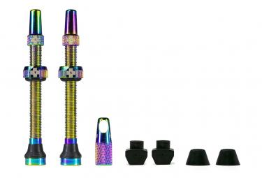 Valves Tubeless Muc-Off Aluminium 80 mm Iridescent