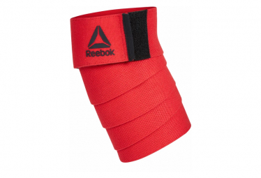Image of Bandesde musculation genoux reebok knee wraps rouge