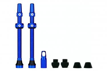 Valves Tubeless Muc-Off Aluminium 80 mm Bleu