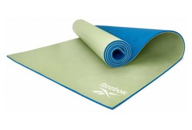 Tapis de Yoga Reebok Double Sided 6mm Yoga Mat Bleu / Vert