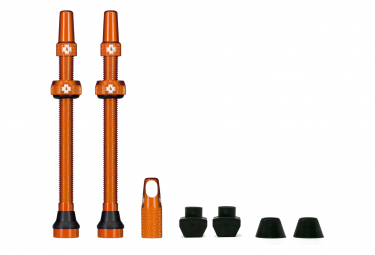 Válvulas Tubeless Muc-Off Aluminio Presta 80mm Naranja