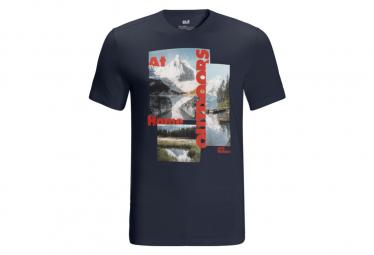 Jack Wolfskin Lake Morning Camiseta Azul S