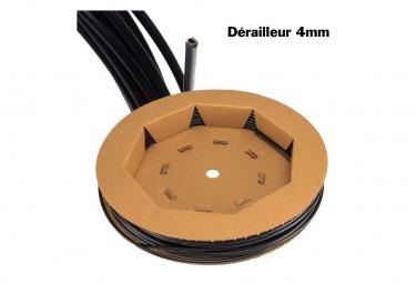 GAINE DERAILLEUR SIS 4mm Noir Bte 30m.
