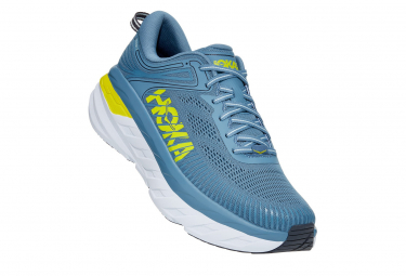 Hoka Bondi 7 Blue / Yellow Running Shoes