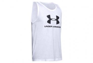Under Armour Sportsyle Logo Tank Top Blanco Hombre S