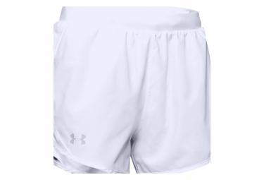 Pantalon Corto Under Armour Fly By 2 0 Blanco Mujer Xs