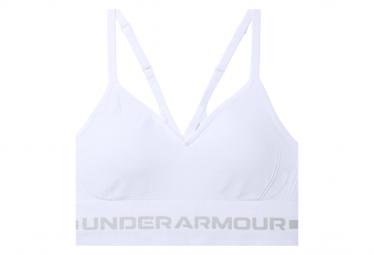 Sujetador Under Armour Seamless Low Long Blanco Mujer