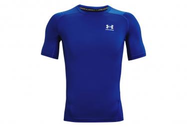 Under Armour Heatgear Armour Camiseta De Compresion De Manga Corta Azul Hombre L