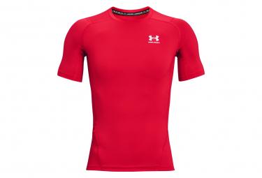 Under Armour Heatgear Armour Camiseta De Compresion De Manga Corta Roja Hombre S