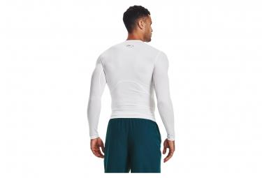 Maillot Manches Longues de compression Under Armour Heatgear Armour Blanc Homme