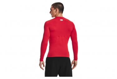 Maillot Manches Longues de compression Under Armour Heatgear Armour Rouge Homme