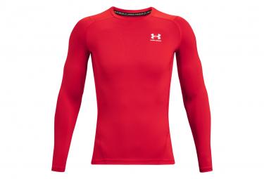 Under Armour Heatgear Armour Camiseta De Compresion De Manga Larga Rojo Hombre Xl