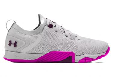 Chaussures de Cross Training Femme Under Armour TriBase Reign 3 Gris / Violet