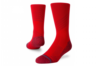 Calcetines Stance Athletic Crew Staple Rojo 35 37