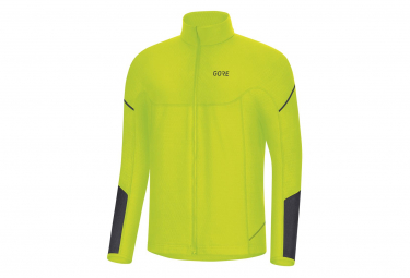 Maillot Manches Longues Gore Thermo Jaune Fluo