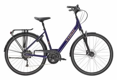 Bicicletta da città Trek Verve 3 Lowstep equipaggiata con Shimano Acera 9V Purple Abyss 2021