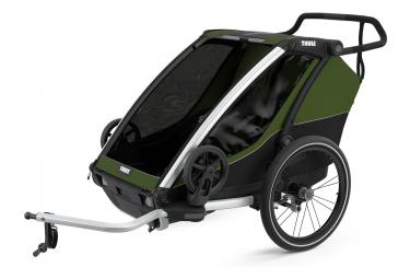 Rimorchio per bambini Thule Chariot Cab 2 Cypress Green