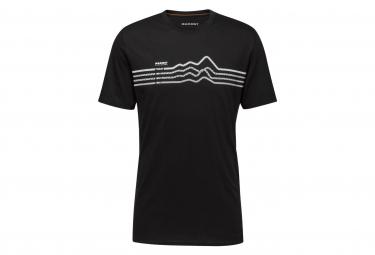 Camiseta Mammut Seile Negra Para Hombre M