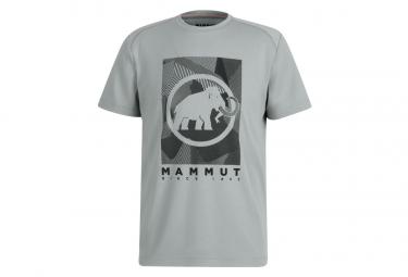Camiseta Gris Mammut Trovat Para Hombre L
