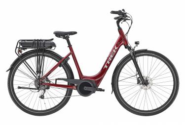 Bicicleta eléctrica urbana Trek VERVE + 1 Mowstep Shimano Altus 8V 400wh Rage Red 2021
