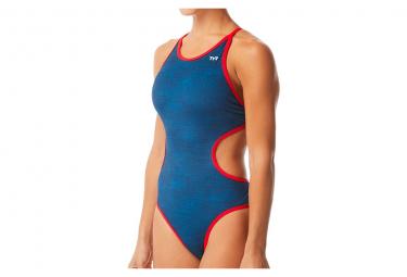 TYR Sandblasted Monofit Woman One-Piece Swimsuit Blue