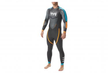 TYR Hurricane Cat 2 Triathlon Suit Black / Blue / Orange