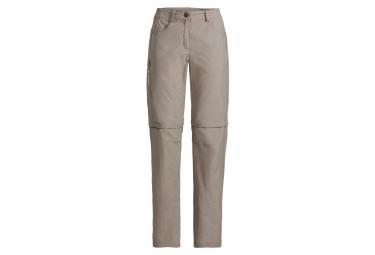 Pantalones De Senderismo Vaude Farley Zo Pants V Beige Mujer L