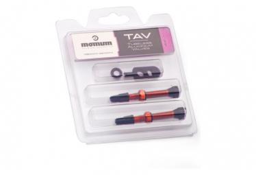 MOMUM - Set 2 valves aluminium base ronde - TAV - 44mm - ORANGE
