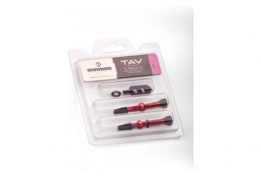 MOMUM - Set 2 valves aluminium base ronde - TAV - 44mm - RED