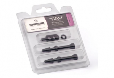 MOMUM - Set 2 valves aluminium base ronde - TAV - 44mm - BLACK