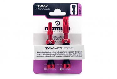 MOMUM - SET 2 valves aluminium base ronde pour mousse Anti-Pincement -MOUSSE - 50 mm-RED