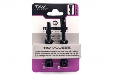 MOMUM - SET 2 valves aluminium base ronde pour mousse Anti-Pincement- MOUSSE -50mm -BLACK