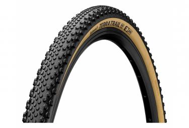 Continental Terra Trail 700 mm Gravel Copertone Tubeless Ready Pieghevole ProTection BlackChili Compound Cream Sidewall E-Bike e25