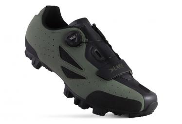 Chaussures de Route Lake MX176-X Vert Beetle / Noir Version Large
