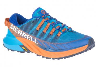 Merrell Agility Peak 4 Trail Zapatos Azul Naranja Hombres 41 1 2