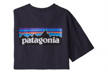 T-Shirt Patagonia P-6 Logo Responsibili Violet